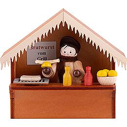 Weihnachtsmarktbude Bratwurst mit Thiel - Figur  -  8cm