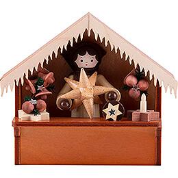 Weihnachtsmarktbude Sternemarkt mit Thiel - Figur  -  8cm