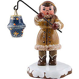 Winter Children Girl with Lantern  -  8cm / 3 inch