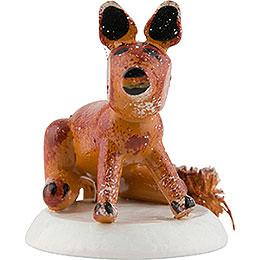 Winterkinder 4er Set Fuchs  -  3cm