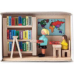 Zündholzschachtel Bücherei  -  4cm