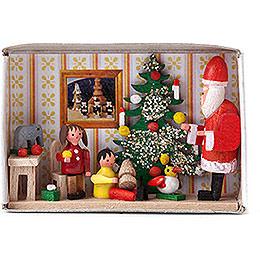 Zündholzschachtel Kinderweihnachtsfeier  -  4cm